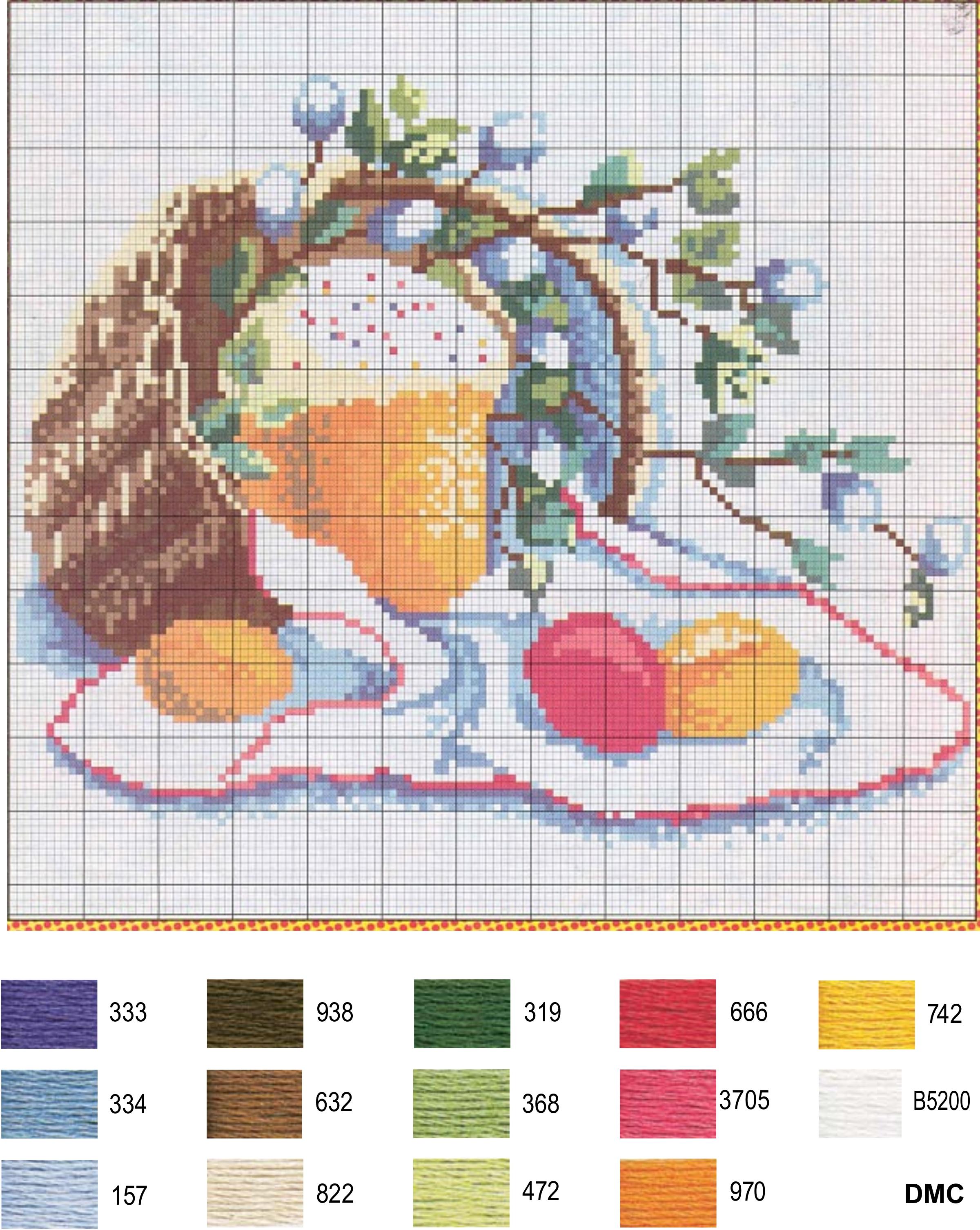 Схема для вышивки пасхальная тематика