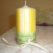 Декупаж свічки