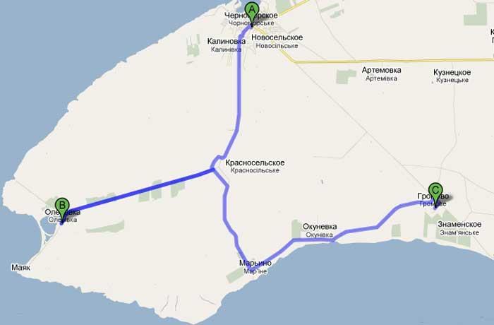 карта 21 Курс на Тарханкут (частина третя)