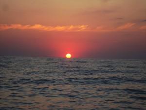 захід сонця в Любимівці