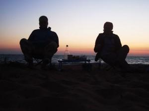 вечеря на пляжі в Качі