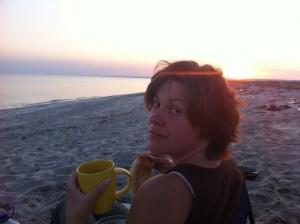 вечеря на березі моря